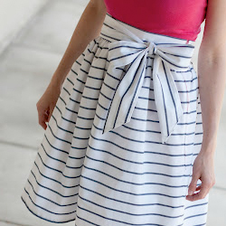 diy high waisted sash skirt | stylegawker