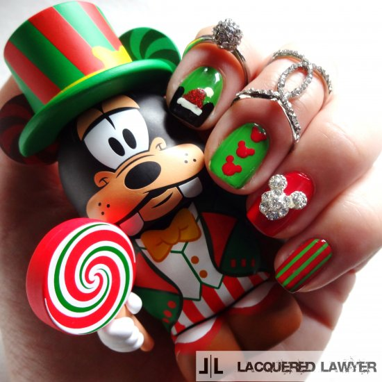 Lacquered Lawyer Nail Art Blog A Merry Mickey Christmas