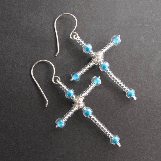 Diy Beaded Cross Earrings Stylegawker